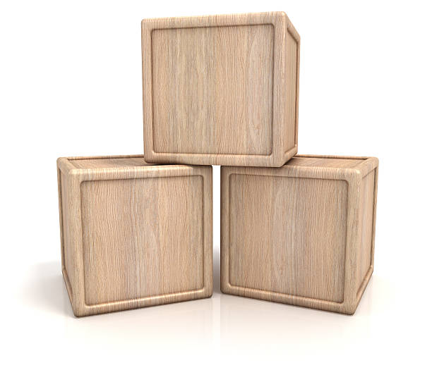 Three wooden blocks:スマホ壁紙(壁紙.com)