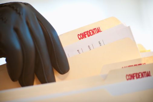 Protective Glove「A gloved hand taking confidential files」:スマホ壁紙(14)
