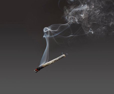 Gray Background「Marijuana joint」:スマホ壁紙(13)