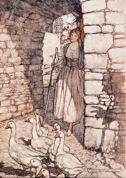 Chromolithograph「The Goosegirl」:写真・画像(11)[壁紙.com]