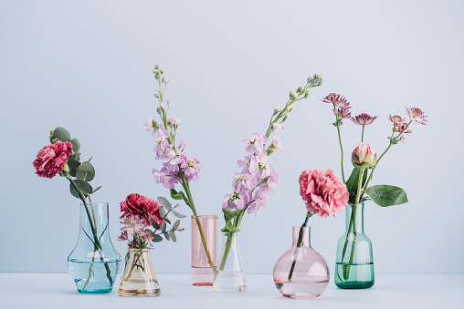 Pink「Flower arrangement in pastel」:スマホ壁紙(0)
