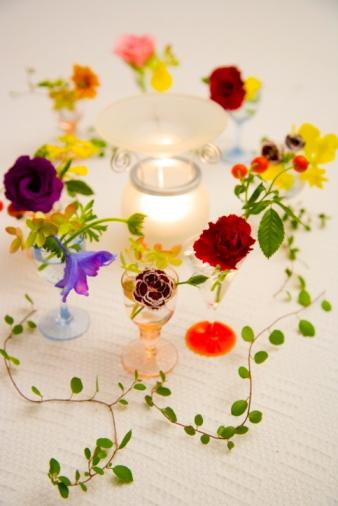 Flower Arrangement「Flower arrangement and aromatherapy candle」:スマホ壁紙(10)