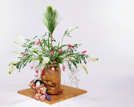 お正月「Flower arrangement」:スマホ壁紙(13)
