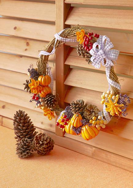 Autum wreath:スマホ壁紙(壁紙.com)