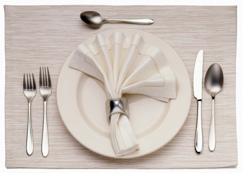 Place Setting「Empty Dinner Plate, Knife, and Fork」:スマホ壁紙(0)