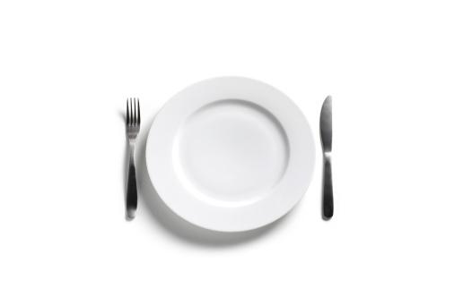 Plate「Empty dinner plate on white background」:スマホ壁紙(19)
