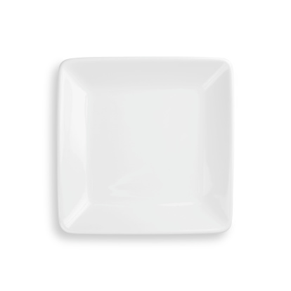 Square - Composition「Empty dinner plate isolated on white with clipping path」:スマホ壁紙(5)