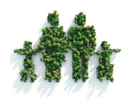 Deforestation「Green Family」:スマホ壁紙(16)