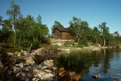 Finland「A cabin next to lake inari」:スマホ壁紙(1)