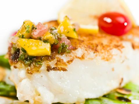 Sea Bass「Pan Roasted fillet of fish with marinated tropical fruit sauce」:スマホ壁紙(17)