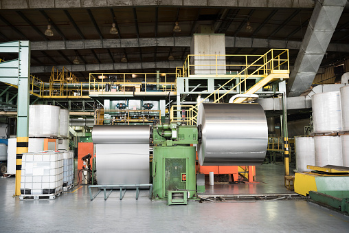 Mill「Aluminium metal rolled up in processing plant」:スマホ壁紙(14)