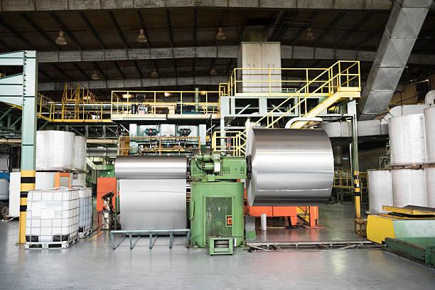 Aluminium metal rolled up in processing plant:スマホ壁紙(壁紙.com)