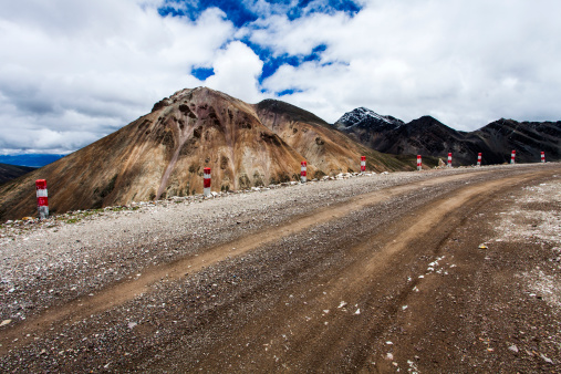 Rough「Dirt road in Tibet, China」:スマホ壁紙(3)