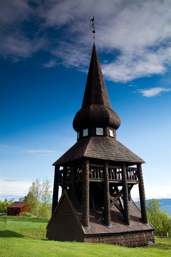 Jamtland「Belltower at Hackas Church Near Ostersund, Sweden」:スマホ壁紙(19)