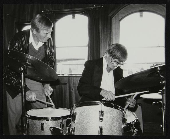Leather Jacket「Drummers Jack Parnell and Barrett Deems, London, 1984. Artist: Denis Williams」:写真・画像(16)[壁紙.com]