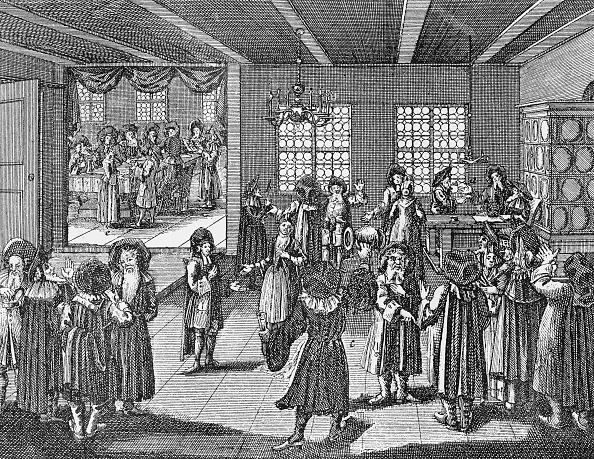 式典「Wedding celebration feast after mariage ceremony / Die Eheschliessung of German Jews in 18th century」:写真・画像(4)[壁紙.com]