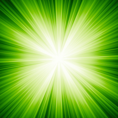 Green Background「A green background with white light」:スマホ壁紙(12)