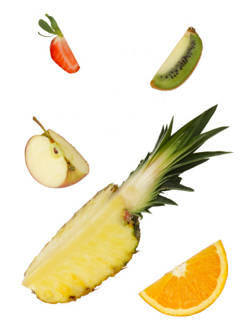 Kiwi「Quarters of five different fruits」:スマホ壁紙(8)