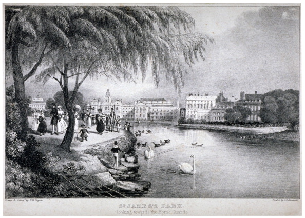 Footpath「View of St James's Park and Buckingham Palace, Westminster, London, c1830. Artist: Thomas Mann Baynes」:写真・画像(18)[壁紙.com]