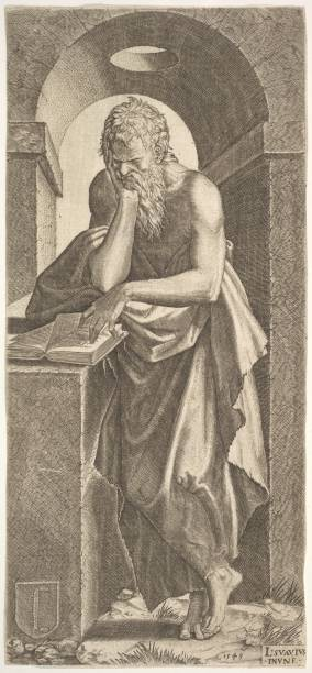 St Simon Standing Before An Open Book With The Fingers Of His Left Hand Pressed Onto The:ニュース(壁紙.com)