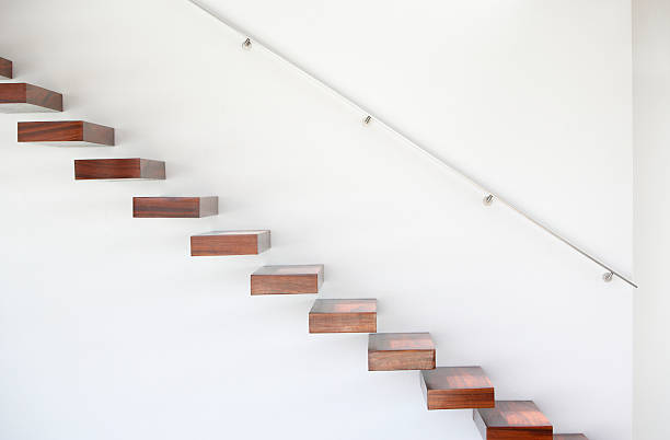 Wooden staircase and handrail:スマホ壁紙(壁紙.com)