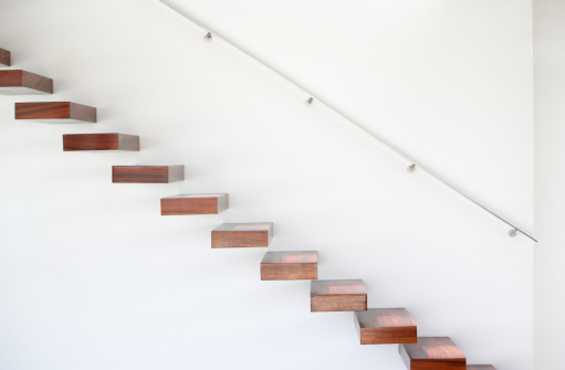 Railing「Wooden staircase and handrail」:スマホ壁紙(3)