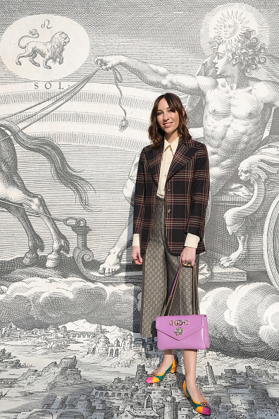 Checked Blazer「Gucci - Arrivals - Milan Fashion Week Autumn/Winter 2019/20」:写真・画像(14)[壁紙.com]