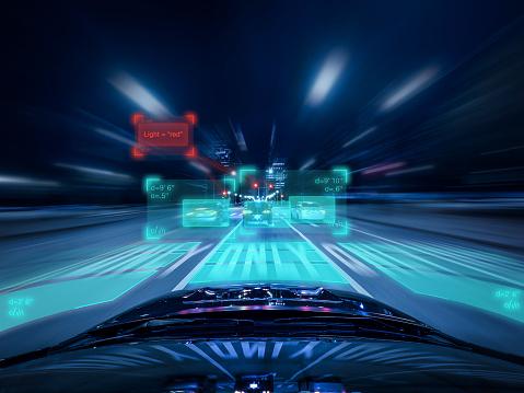 移動中「Driverless Car Evaluating upcoming Traffic」:スマホ壁紙(1)