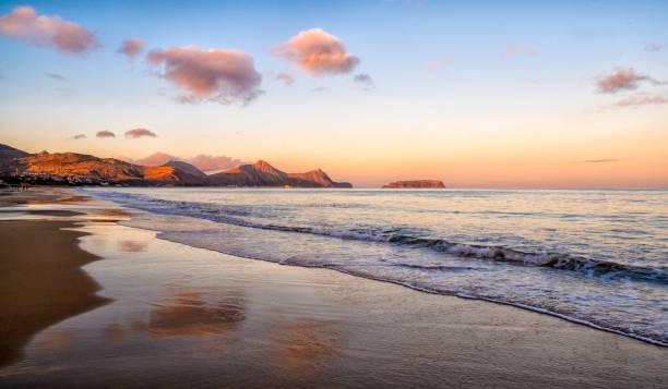 Evening Light On the Beach At Porto Santo:スマホ壁紙(壁紙.com)