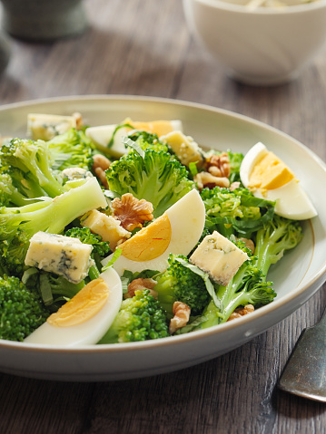 Vinaigrette Dressing「Broccoli and eggs salad with blue cheese and walnuts」:スマホ壁紙(0)