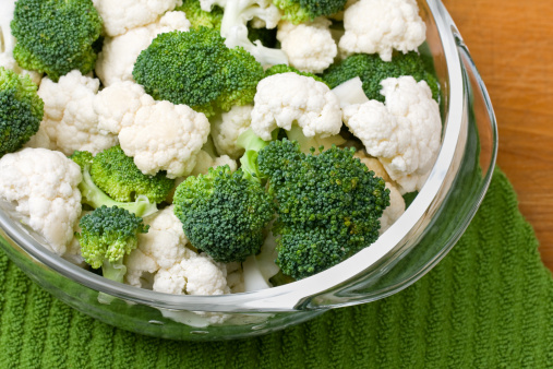 Broccoli「Broccoli and Cauliflower in Glass Bowl」:スマホ壁紙(6)
