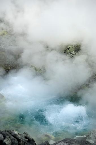 温泉「steam and boiling water in japanese natural hot spring Tamagawa Onsen」:スマホ壁紙(15)