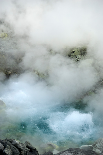 Hot Spring「steam and boiling water in japanese natural hot spring Tamagawa Onsen」:スマホ壁紙(12)