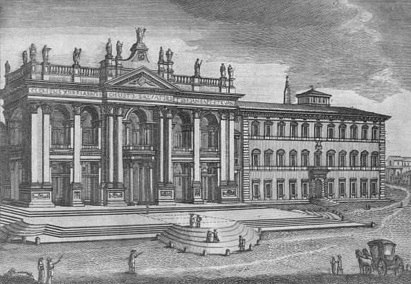 バシリカ「'Basilica Di San Giovanni In Laterano. Basilique De St. Jean De Latran', C19th Century」:写真・画像(8)[壁紙.com]