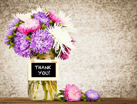Aster「Flowers with Thank You Message」:スマホ壁紙(12)