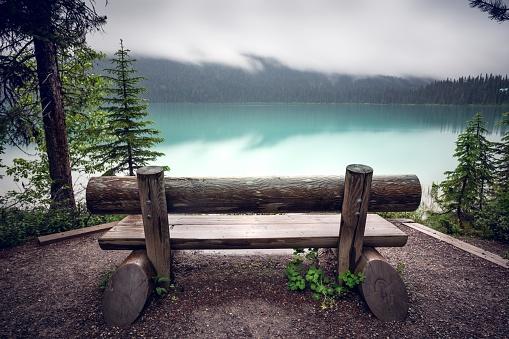 Yoho National Park「Bench by the Emerald Lake, Yoho National Park, British Columbia, Canada」:スマホ壁紙(19)