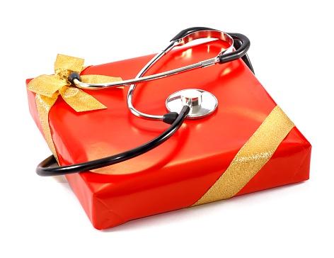 仕事運「Stethoskop の赤いギフトボックスにゴールドのループ絶縁型」:スマホ壁紙(15)