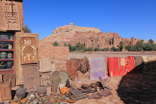 Gift Shop「Souvenir Shop, at Ait Benhaddou, Ouarzazate, Morocco」:スマホ壁紙(17)