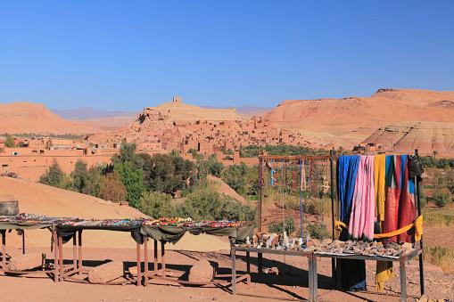 Gift Shop「Souvenir Shop, at Ait Benhaddou, Ouarzazate, Morocco」:スマホ壁紙(7)