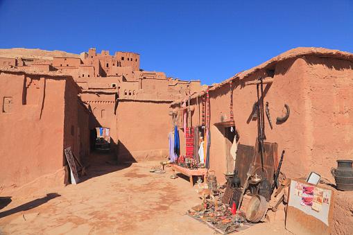 Gift Shop「Souvenir Shop, at Ait Benhaddou, Ouarzazate, Morocco」:スマホ壁紙(14)