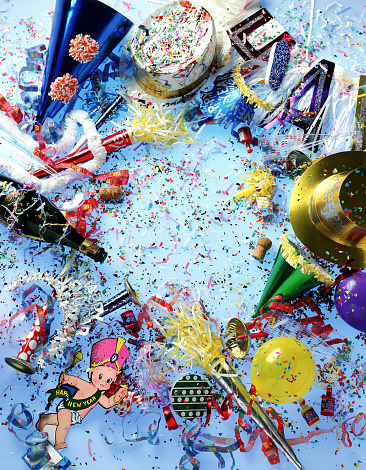 New Year「New Years Party mess」:スマホ壁紙(8)