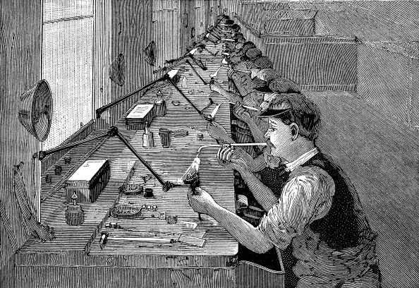 Soldered「Soldering bicycle parts in an American factory, c1900.」:写真・画像(8)[壁紙.com]