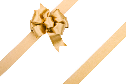 Gift「Gold Bow (Clipping path) XXL」:スマホ壁紙(18)