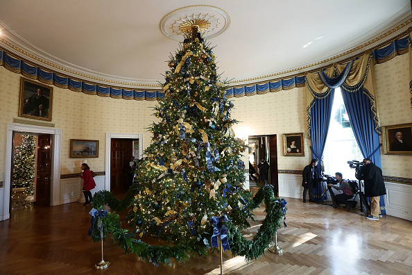 Christmas Decoration「The White House Previews Its Holiday Decorations」:写真・画像(8)[壁紙.com]