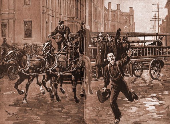Horse「A hook and ladder company in the 1890s」:写真・画像(18)[壁紙.com]