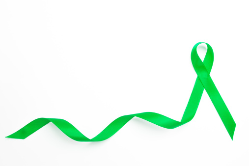 Physical Disability「Green awareness ribbon with trail」:スマホ壁紙(15)