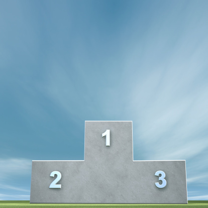 Success「Winners Podium in front of a clear blue sky」:スマホ壁紙(10)