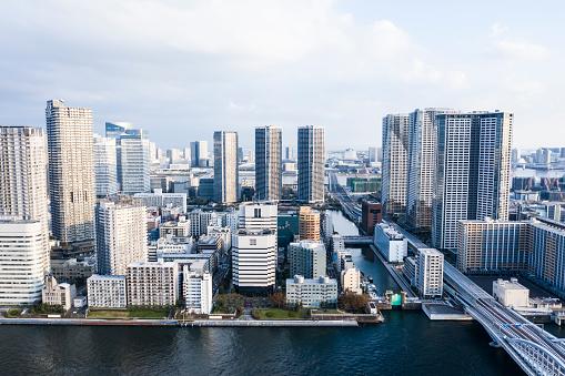 Minato Ward「Bird's eye view of Tokyo Tsukiji.」:スマホ壁紙(12)