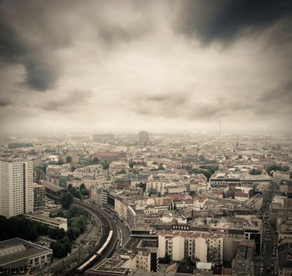 Sepia Toned「Berlin skyline」:スマホ壁紙(17)