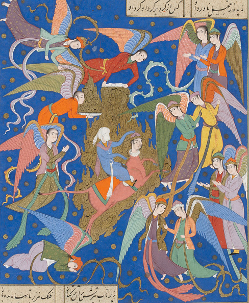 Painted Image「The Night Journey Of The Prophet. (From A Manuscript Of The Khamsa Of Nizami)」:写真・画像(6)[壁紙.com]